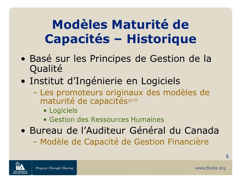 Modèles Maturité de Capacités – Historique