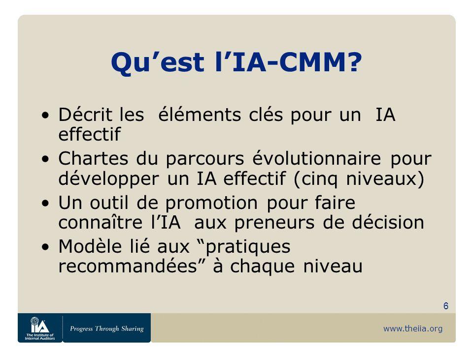 Qu'est l'IA-CMM Décrit les éléments clés pour un IA effectif