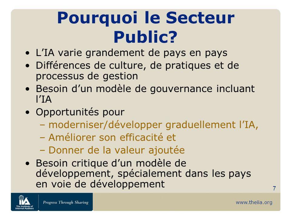 Pourquoi le Secteur Public
