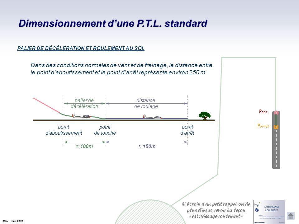 Dimensionnement d'une P.T.L. standard