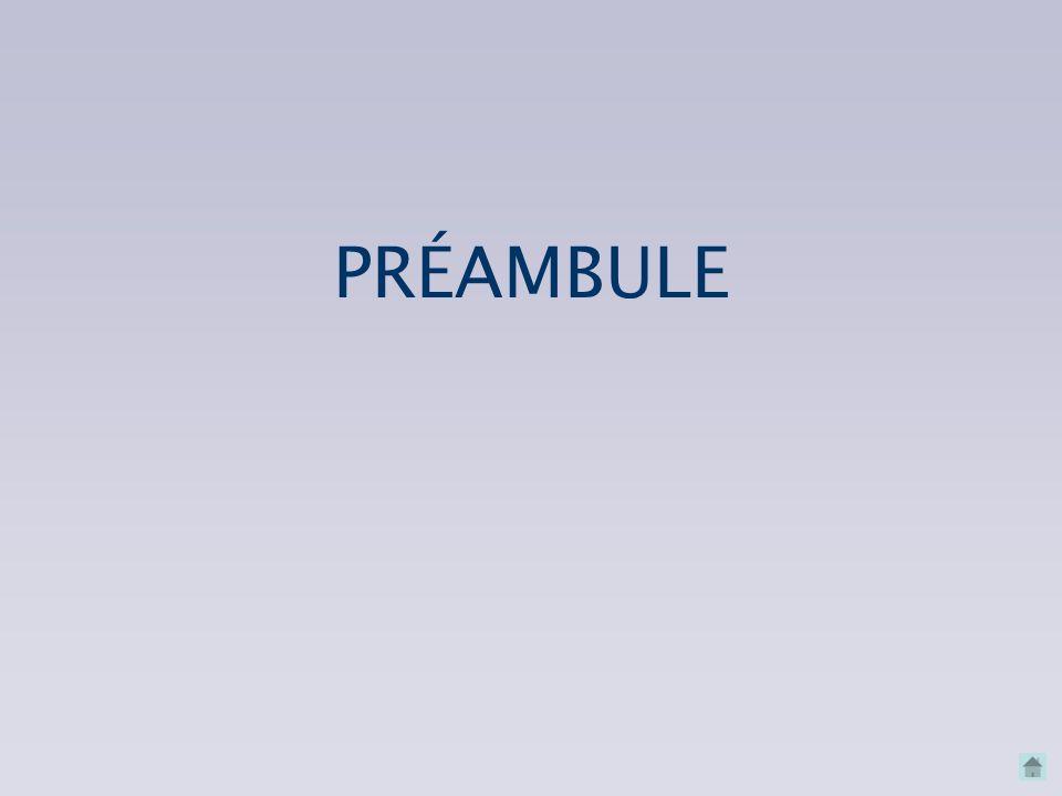 PRÉAMBULE