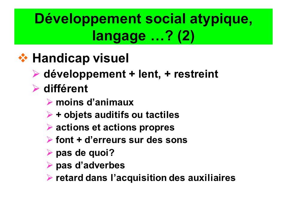 Développement social atypique, langage … (2)
