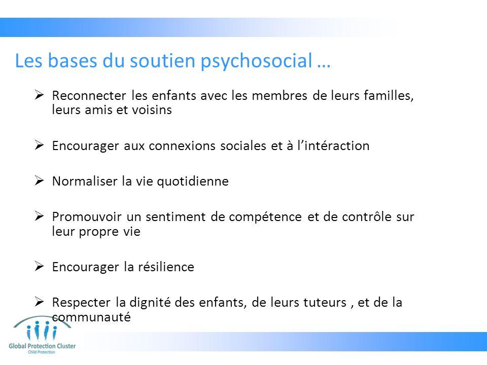 Les bases du soutien psychosocial …