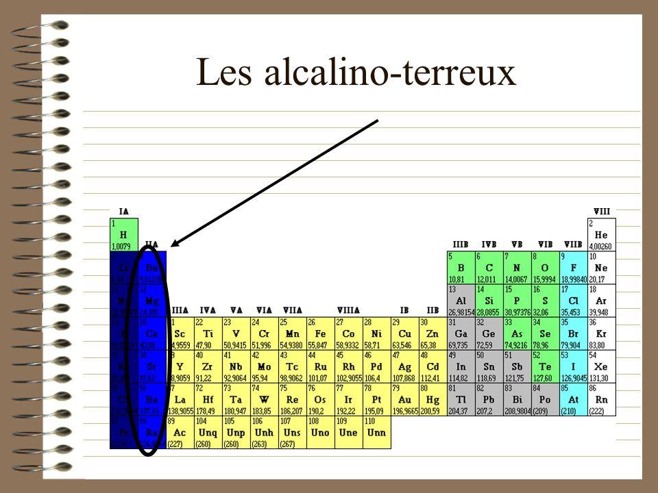 Les alcalino-terreux