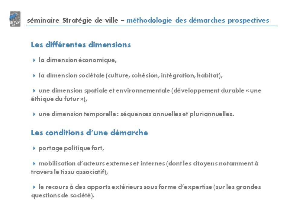 Les différentes dimensions
