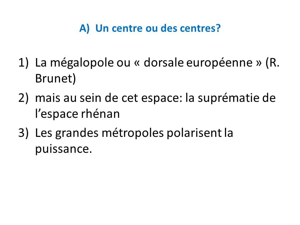 A) Un centre ou des centres