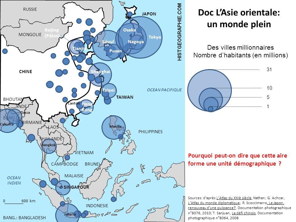 Doc L'Asie orientale: un monde plein