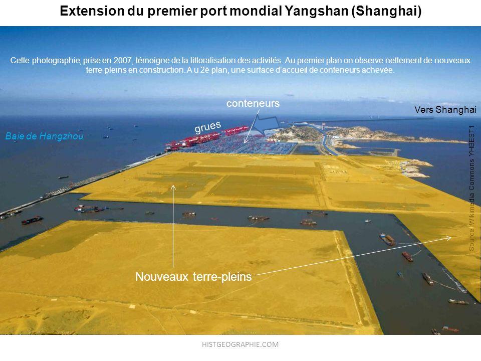 Extension du premier port mondial Yangshan (Shanghai)