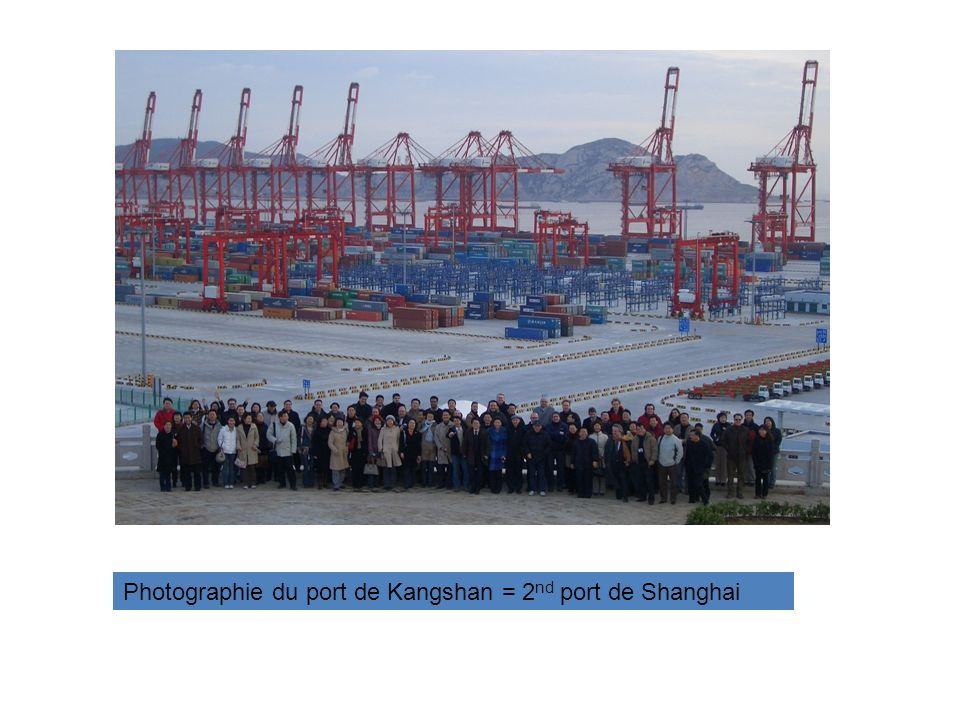 Photographie du port de Kangshan = 2nd port de Shanghai