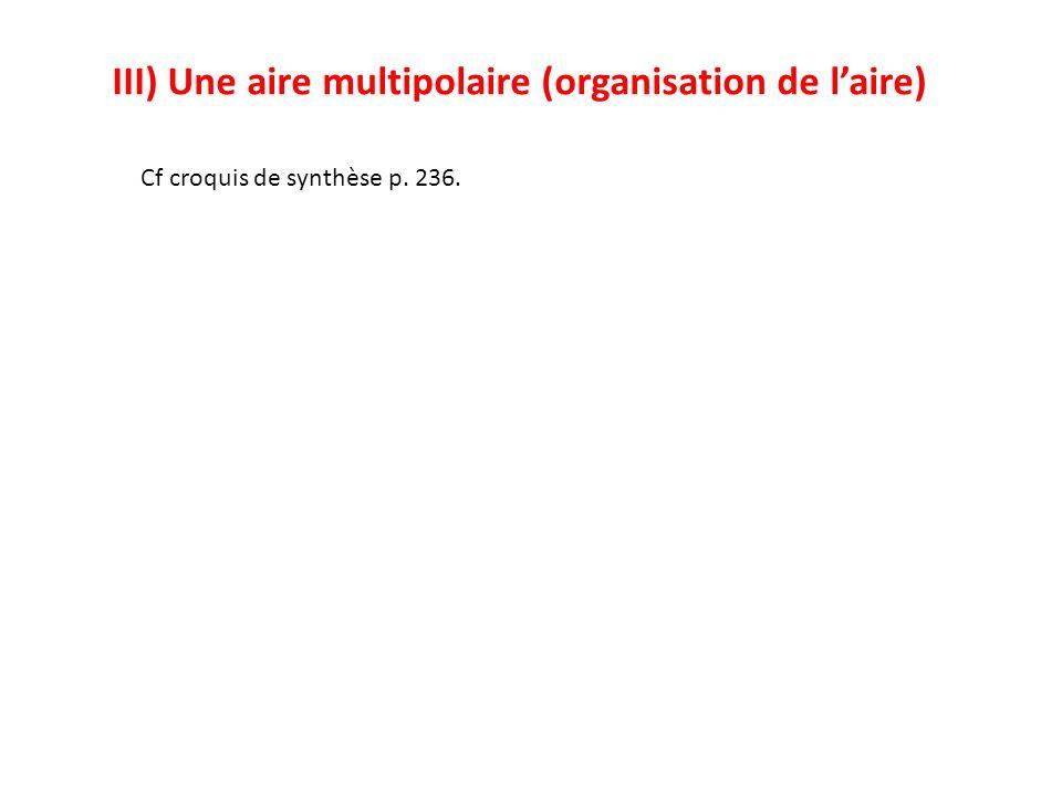 III) Une aire multipolaire (organisation de l'aire)