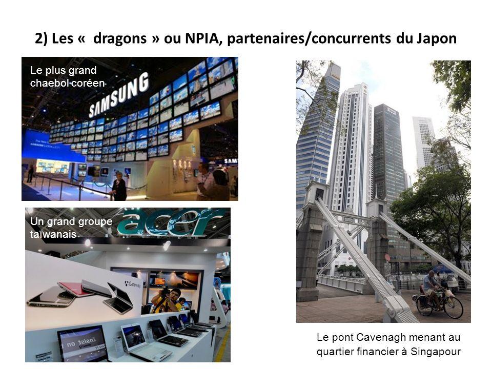 2) Les « dragons » ou NPIA, partenaires/concurrents du Japon