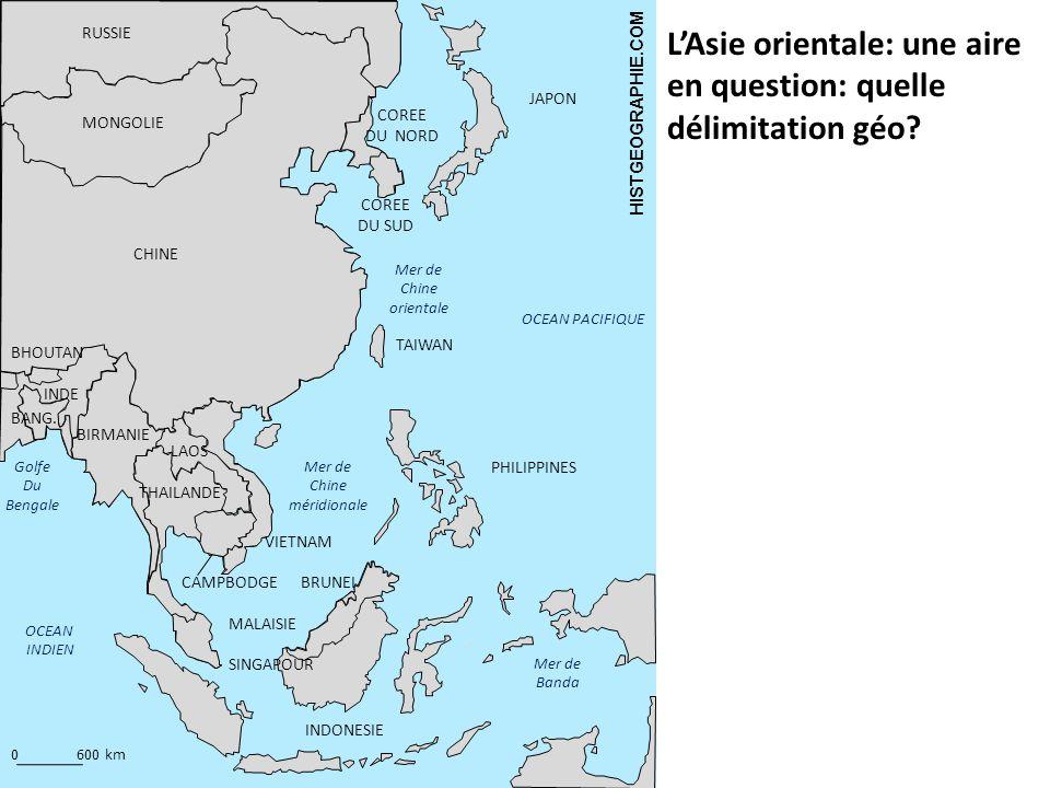L'Asie orientale: une aire en question: quelle délimitation géo