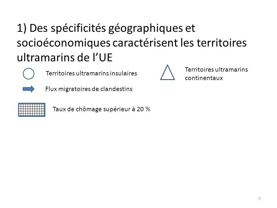 1) Des spécificités géographiques et socioéconomiques caractérisent les territoires ultramarins de l'UE