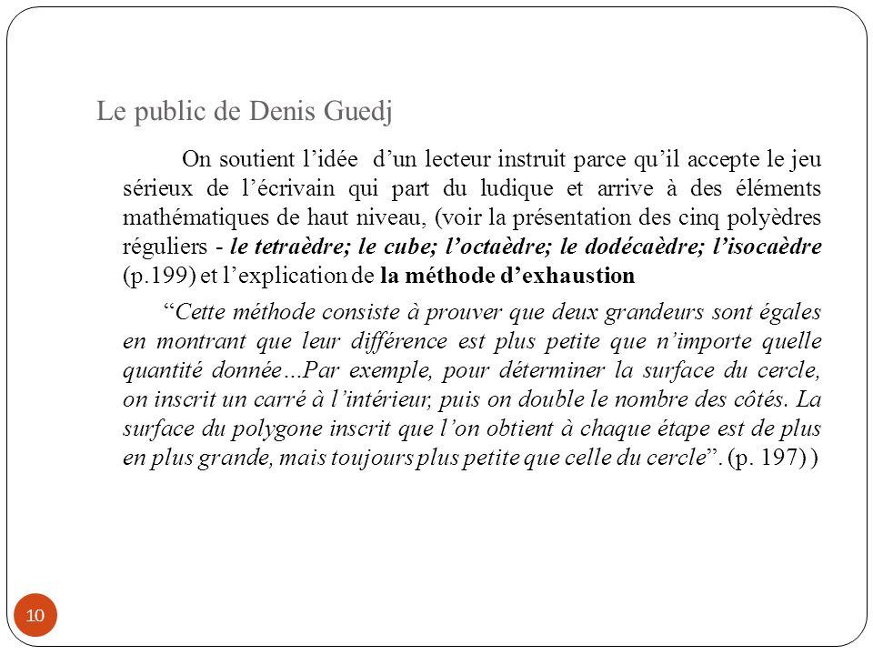 Le public de Denis Guedj