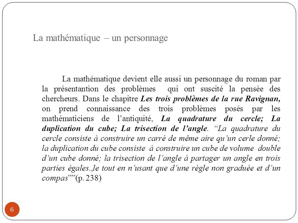 La mathématique – un personnage
