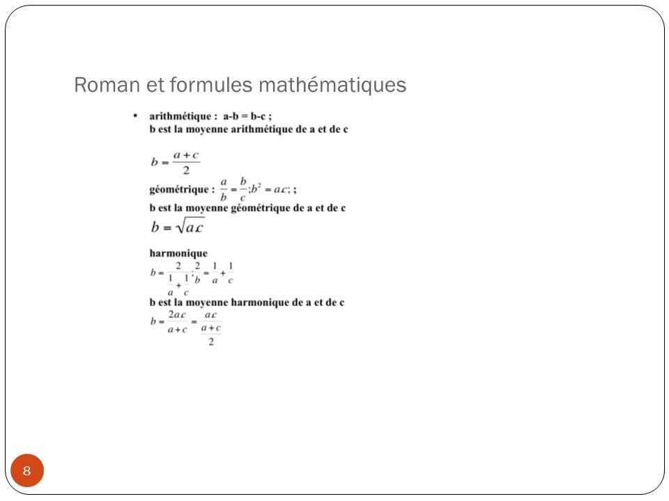 Roman et formules mathématiques