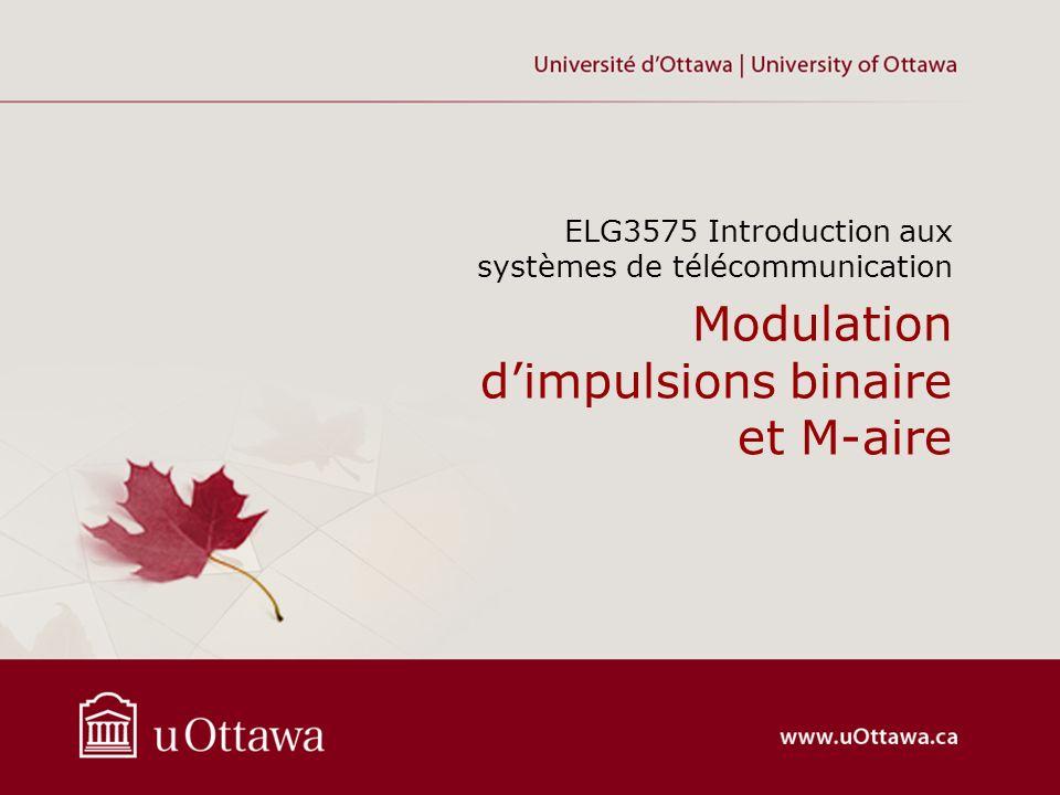Modulation d'impulsions binaire et M-aire