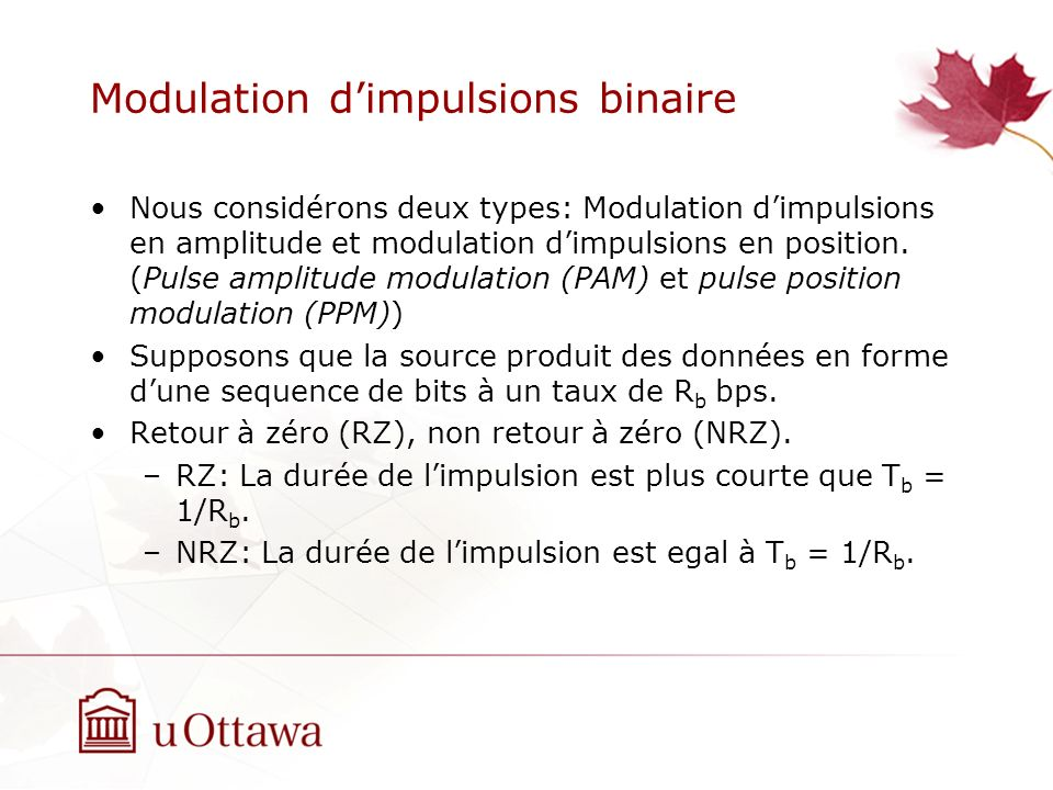 Modulation d'impulsions binaire