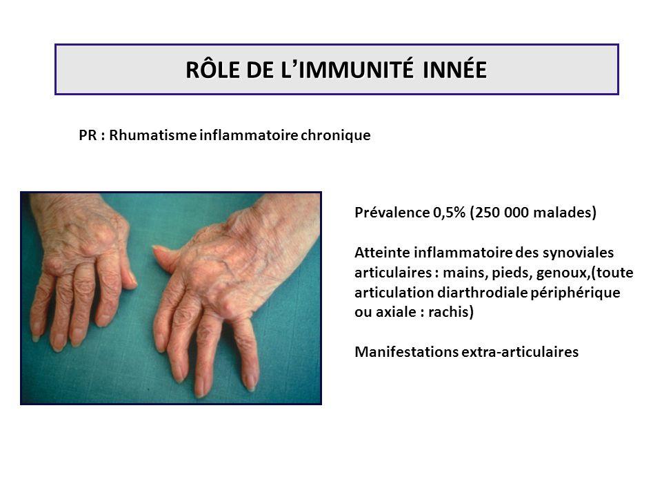 RÔLE DE L'IMMUNITÉ INNÉE
