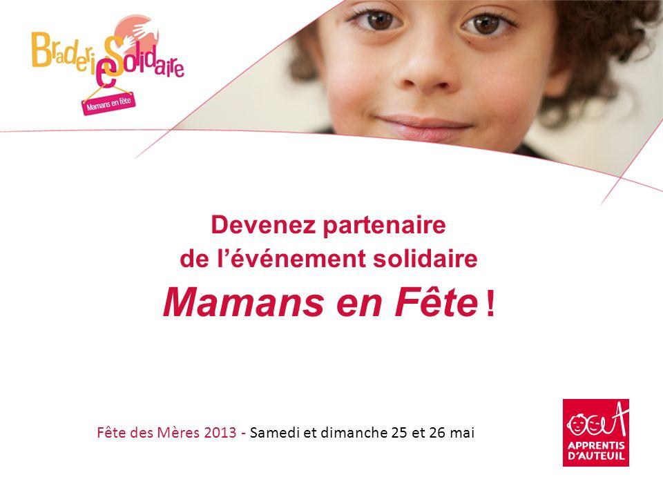 Devenez partenaire de l'événement solidaire Mamans en Fête !