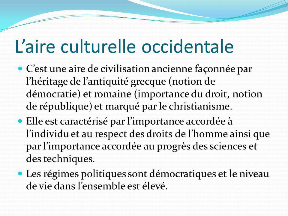 L'aire culturelle occidentale