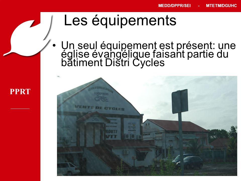 Les équipements Un seul équipement est présent: une église évangélique faisant partie du bâtiment Distri Cycles.