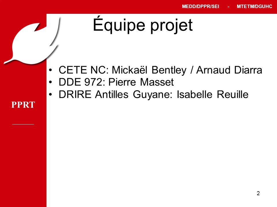 Équipe projet CETE NC: Mickaël Bentley / Arnaud Diarra