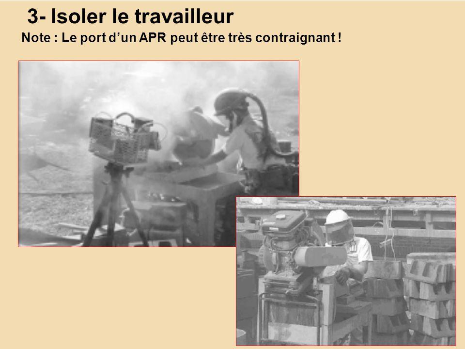 3- Isoler le travailleur