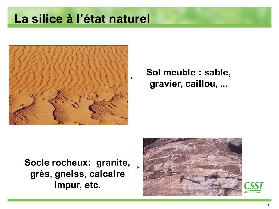 La silice à l'état naturel