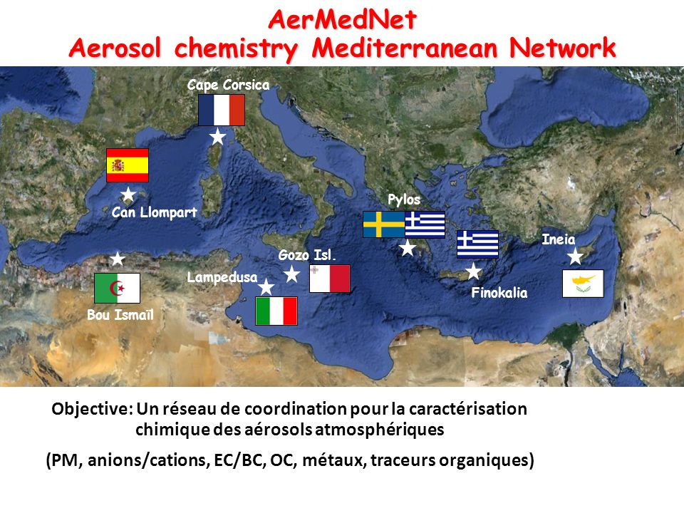 AerMedNet Aerosol chemistry Mediterranean Network
