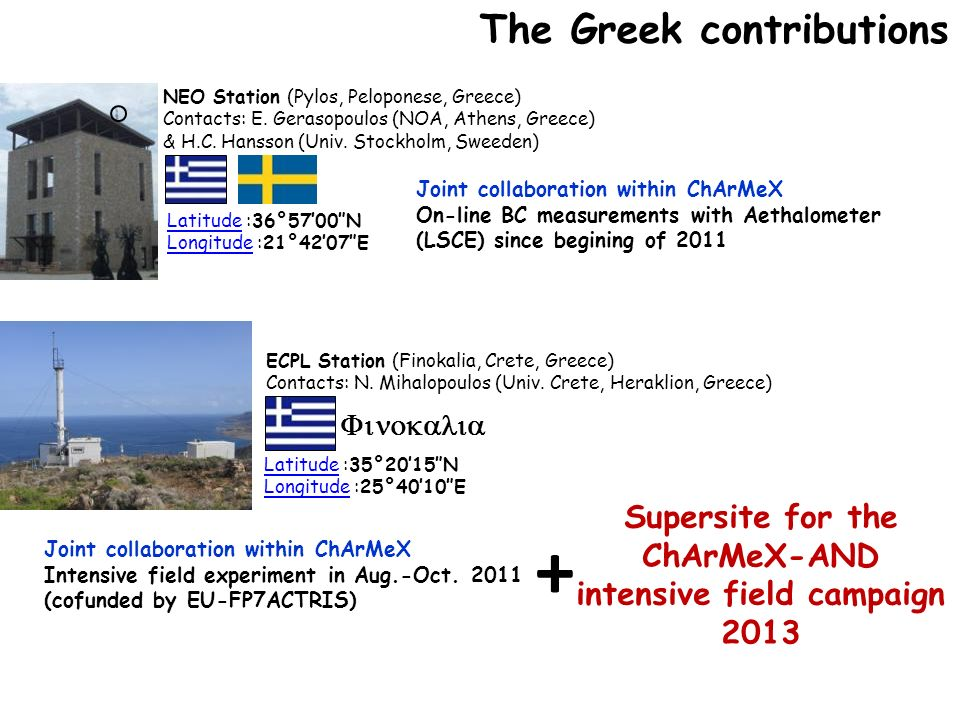 + The Greek contributions