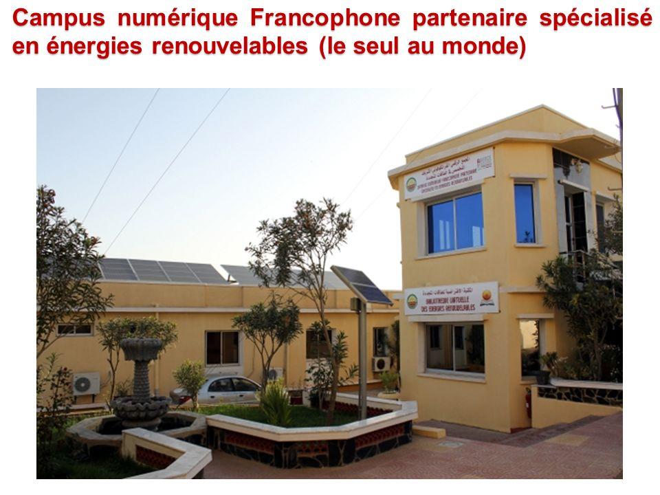 Campus numérique Francophone partenaire spécialisé en énergies renouvelables (le seul au monde)