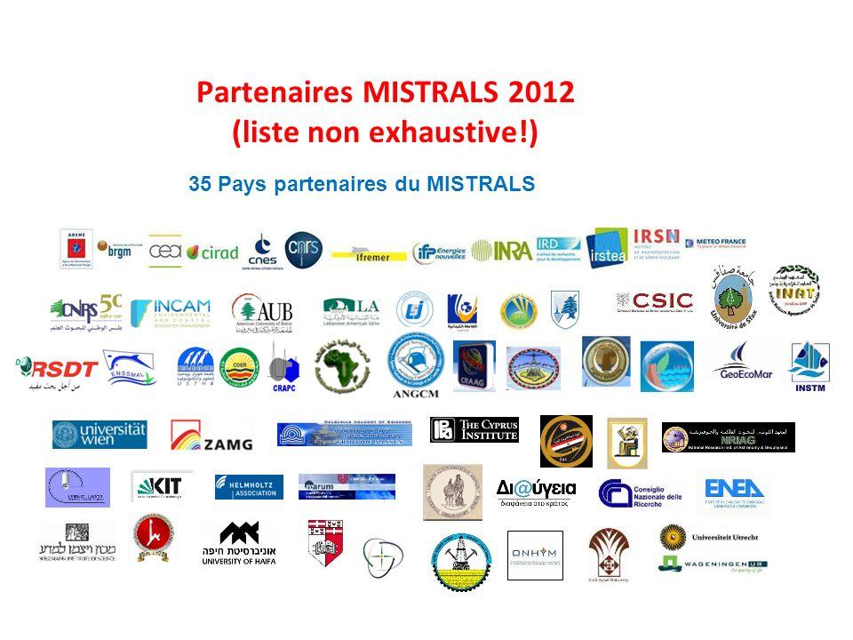 Partenaires MISTRALS 2012 (liste non exhaustive!)