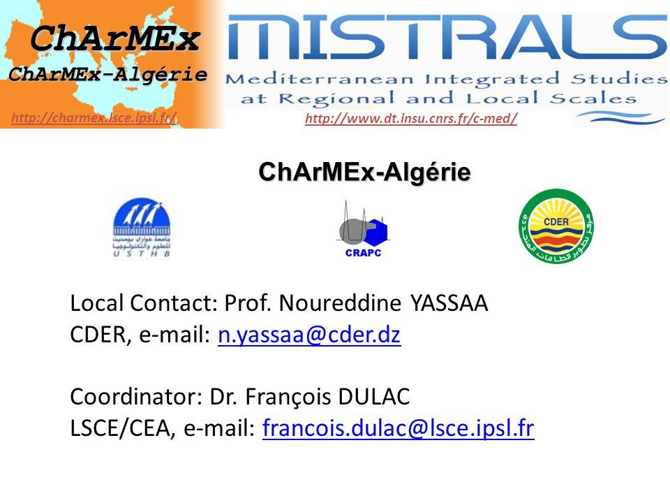 MISTRALS ChArMEx ChArMEx-Algérie
