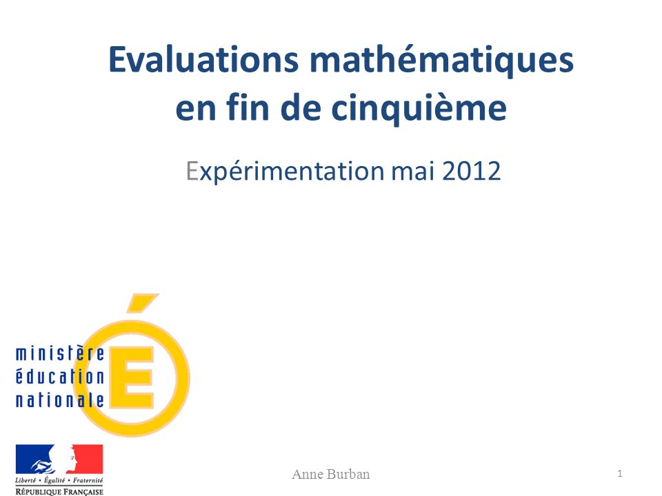 Evaluations mathématiques en fin de cinquième