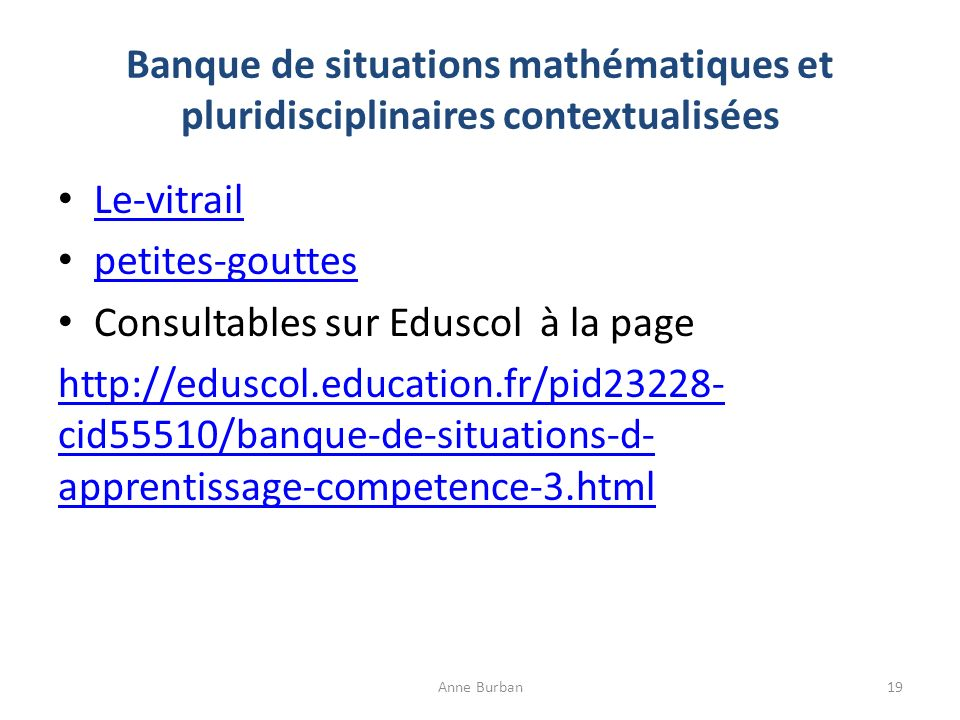 Consultables sur Eduscol à la page