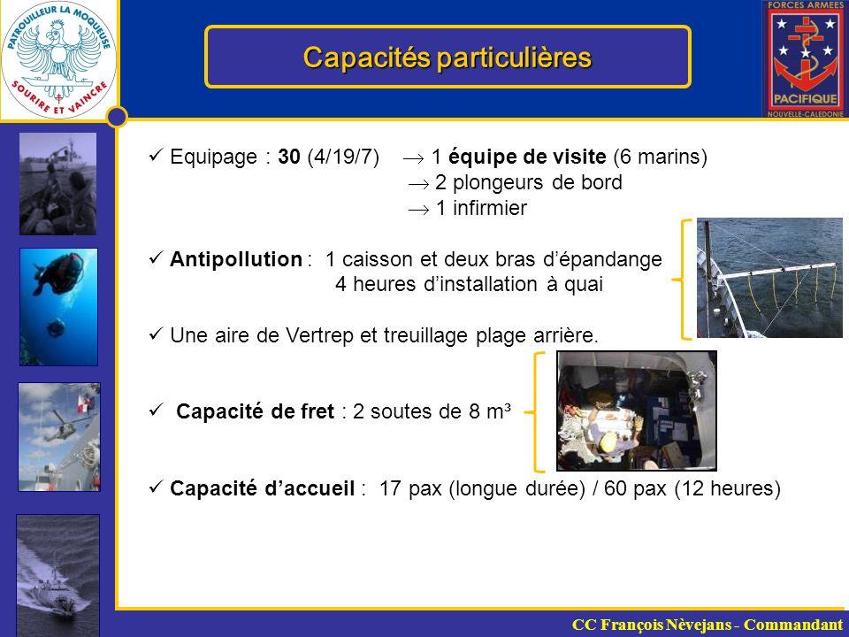 Capacités particulières
