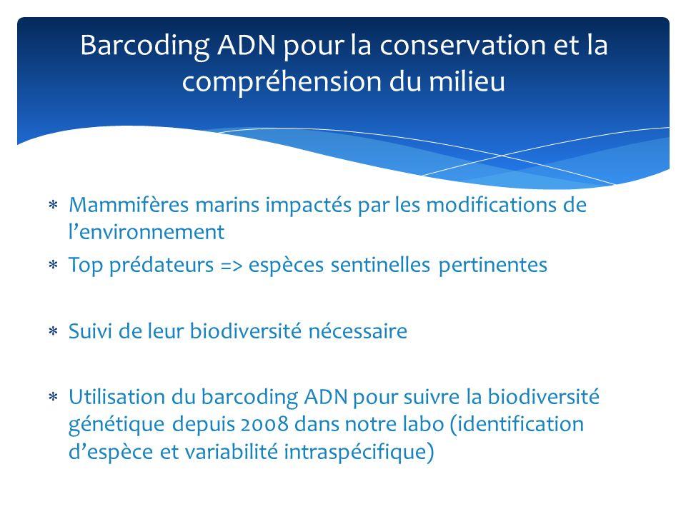 Barcoding ADN pour la conservation et la compréhension du milieu