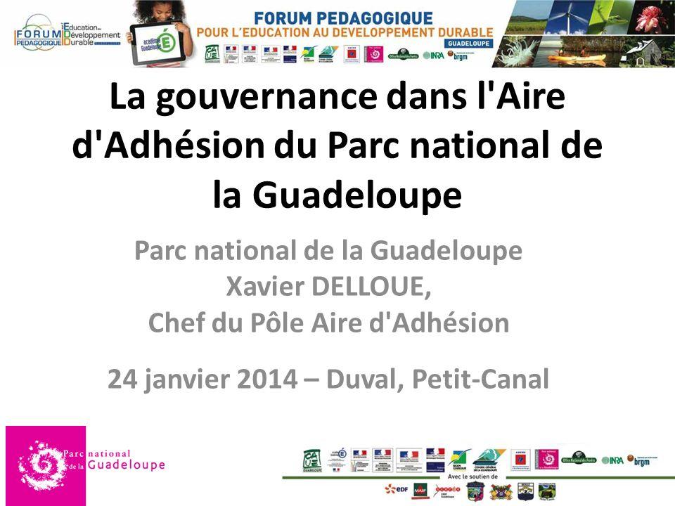 La gouvernance dans l Aire d Adhésion du Parc national de la Guadeloupe