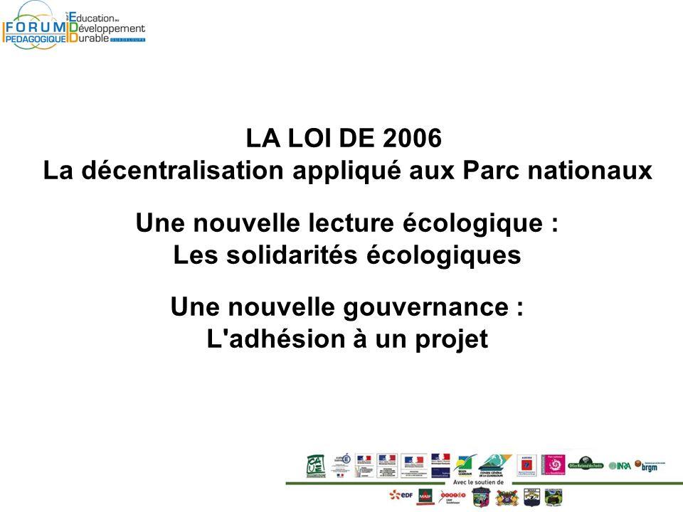 La décentralisation appliqué aux Parc nationaux