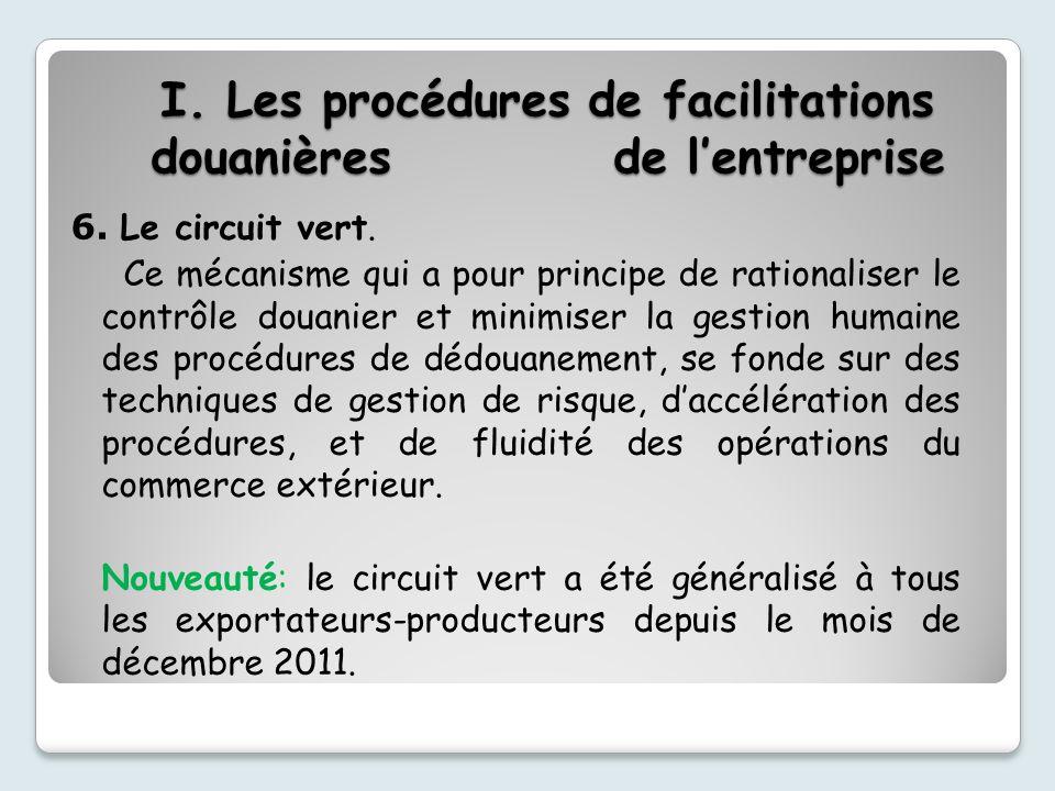 I. Les procédures de facilitations douanières de l'entreprise