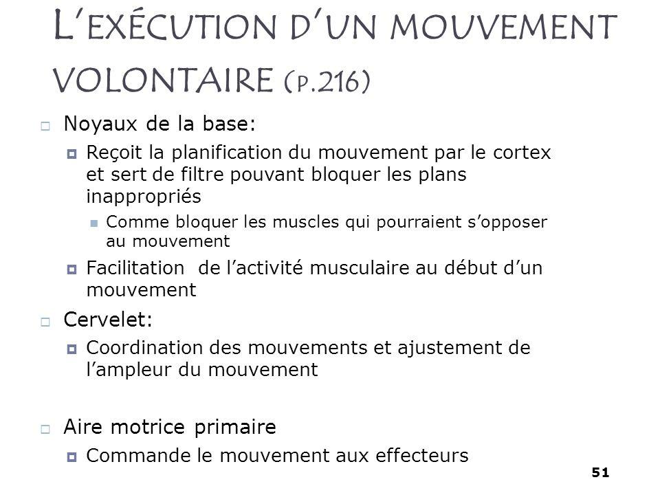 L'exécution d'un mouvement volontaire (p.216)