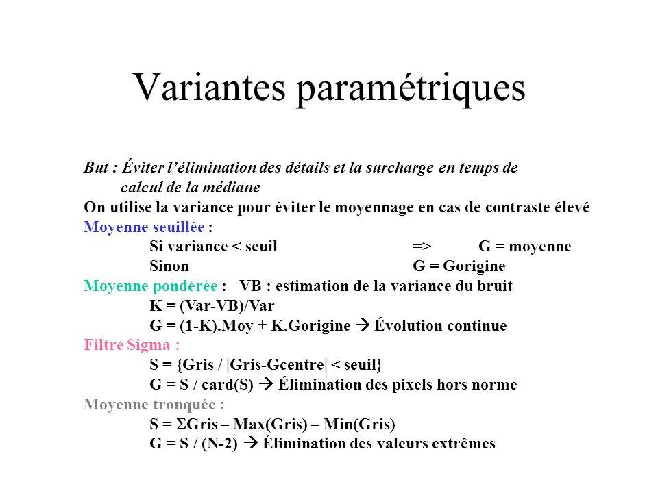 Variantes paramétriques