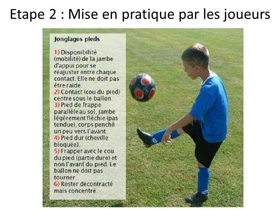 Etape 2 : Mise en pratique par les joueurs
