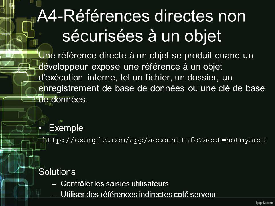 A4-Références directes non sécurisées à un objet
