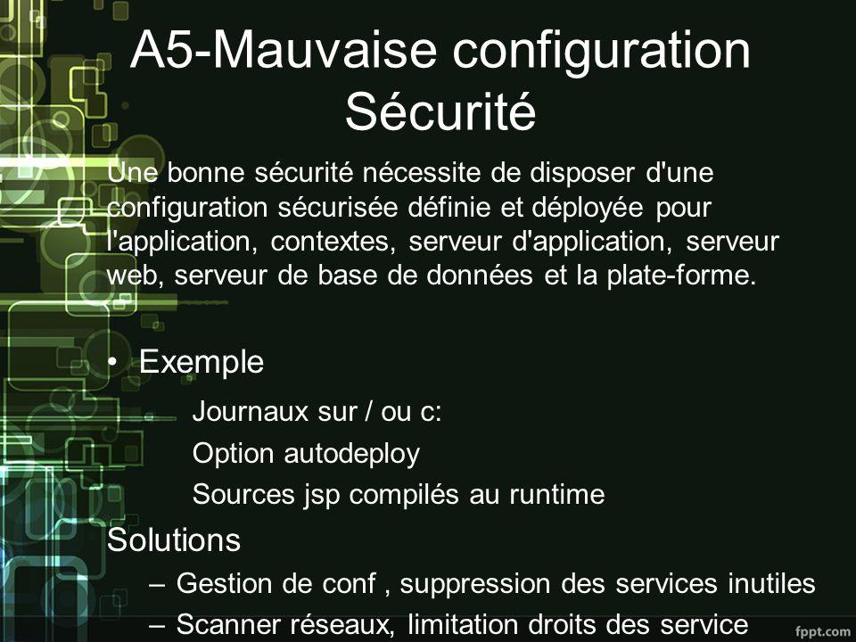 A5-Mauvaise configuration Sécurité