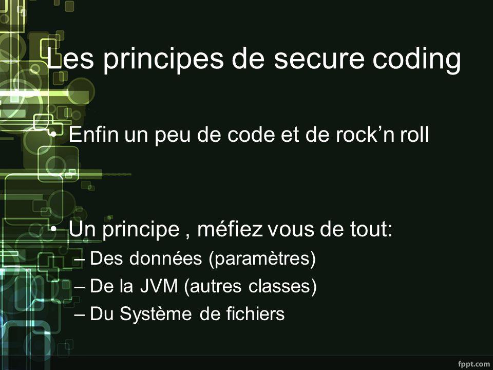 Les principes de secure coding