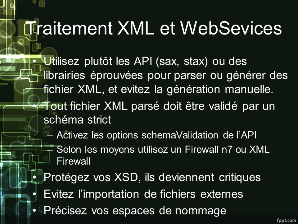 Traitement XML et WebSevices