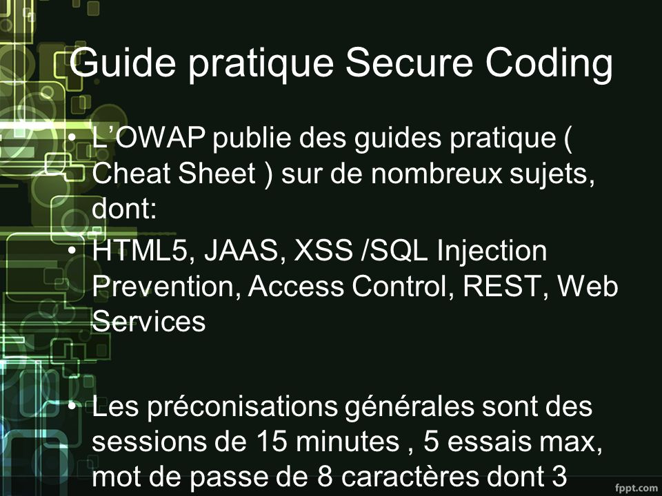 Guide pratique Secure Coding