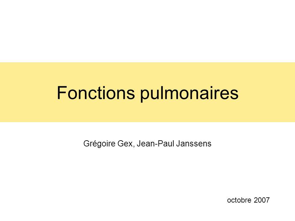 Fonctions pulmonaires